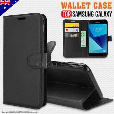 Premium Wallet Leather Card Flip Case Cover For Samsung Galaxy J7 Pro AU Stock