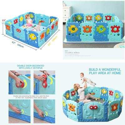 Baby Playpen Kids Panel Activity Centre Safety Play Yard Home Toddler Center