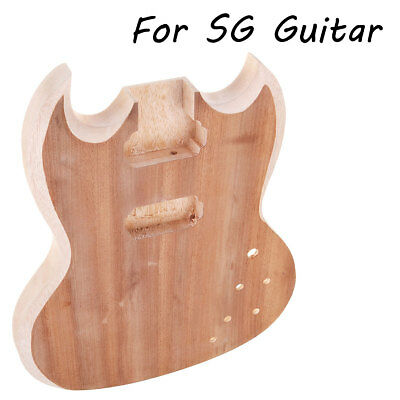 DIY Unfinished Guitar Body Basswood For SG Guitar Fit 22 Frets 57mm Guitar Neck