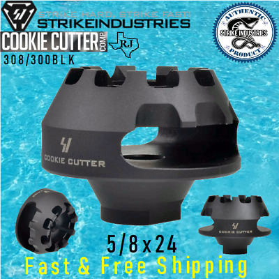 STRIKE INDUSTRIES COOKIE Cutter 5/8x24 Large Muzzle Brake 308 300 size FAT  COMP