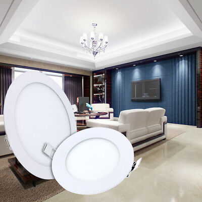 Ultrathin LED Ceiling Panel Lights Dimmable 3W-24W Round Recessed Lamp US Stock