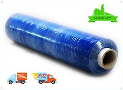1x STRONG ROLL BLUE PALLET STRETCH SHRINK WRAP CAST PACKING CLING FILM