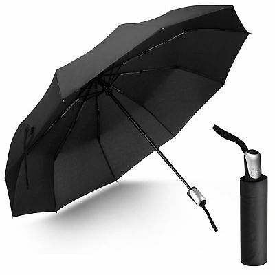 Mini Compact Umbrella Automatic Open/Close Folding Windproof Travel Mens Ladies.