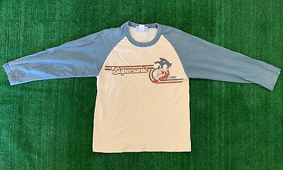 Vintage Sonic The Hedgehog Shirt Supersonic Size M Youth Baseball Tee White