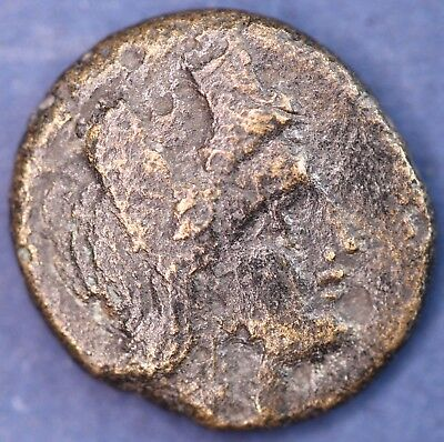 Ancient Greek AE bronze coin. 12mm *[14576]