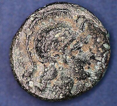 Ancient Greek AE bronze coin. 13mm *[14577]