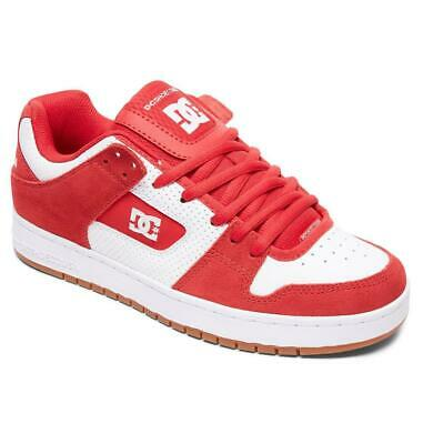 DC Shoes Manteca Red/White/Red Skate Shoes