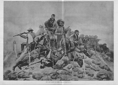 Frederic Remington The Last Stand Massacre Of The Little Big Horn Troops Swords