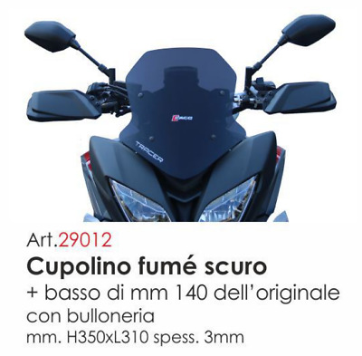 Cupolino Faco 29012 Fume' Scuro Basso X Yamaha Tracer 900 / Tracer Gt 900 2018->