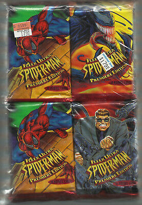 1995 Fleer Ultra Spider-Man  Premiere Edition 36 Packs Factory Sealed!