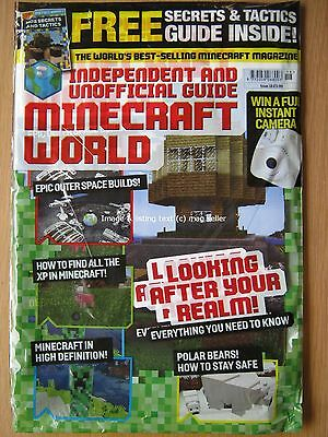 Minecraft World magazine issue 18 Polar Bears Outer Space Builds Realm Tactics