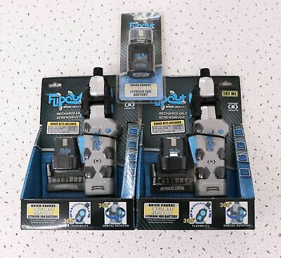 Lot 2 SpeedHex FlipOut 2 Rechargeable Power Driver Screwdriver & extra Battery