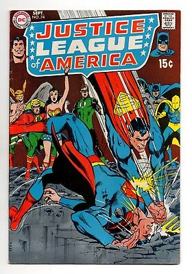 Justice League of America Vol 1 No 74 Sep 1969 (FN/VFN) (7.0) DC, Silver Age