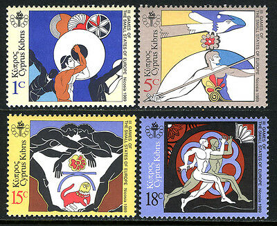 Cyprus 717-720,MNH.Games of Small European States.Discus,Javelin,Wrestling, 1989