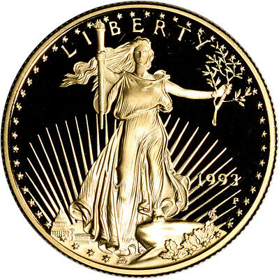1993-P American Gold Eagle Proof 1/2 oz $25 - Coin in Capsule