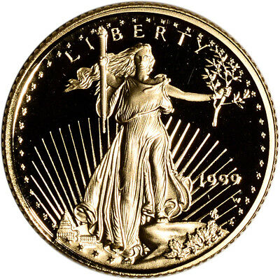 1999-W American Gold Eagle Proof 1/10 oz $5 - Coin in Capsule