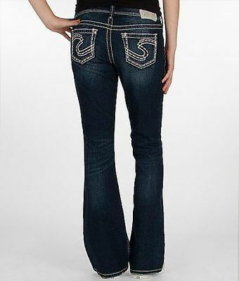 Silver Jeans Mid Rise Suki Bootcut Embroidered 25 26 27 28 29 30 31 32 33 34