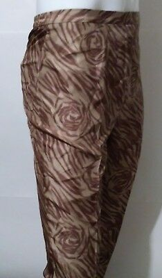 ADRIANNA PAPELL 100% Silk Dress Pants Trouser Fully Lined Women's Size 8