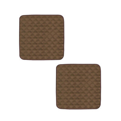 2Pcs Brown Soft Waterproof Washable Chair Protector Pad für Inkontinenz