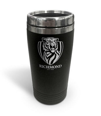 Richmond Tigers AFL TRAVEL Coffee Mug Cup Double Wall Stainless Steel Gift