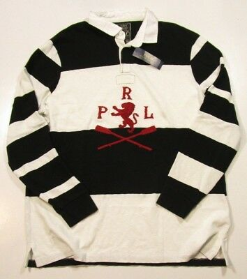 Polo Ralph Lauren Men's Embroidered Classic Fit Striped Rugby Stripe Polo Shirt