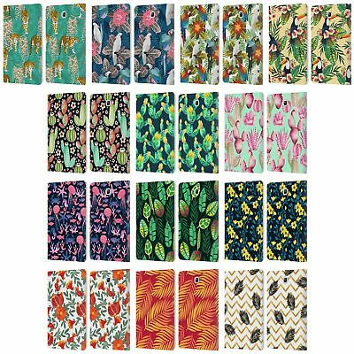 Julia Badeeva Tropical Patterns 2 Leather Book Case For Samsung Galaxy Tablets