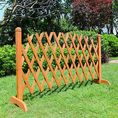 Retractable Expanding Natural Wood Fence Pet Dog Cat Swing Indoor Outdoor house
