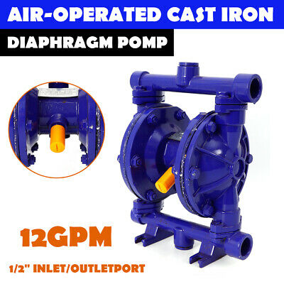 Air-Operated Double Diaphragm Pump Cast iron 12GPM 1/2 inch Inlet& Outlet 115psi