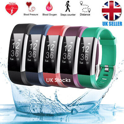 Sports Fitness Tracker Watch Waterproof Heart Rate Activity Monitor Fitbit New