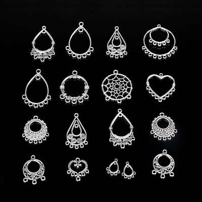 10PCS Tibetan Silver Hollow Earring Connector Bails Pendant Earring Findings DIY