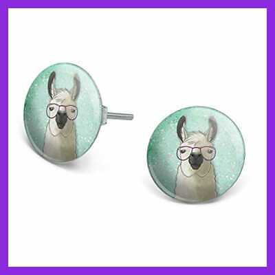 Hip Llama with Glasses Silver Plated Adjustable Novelty Ring