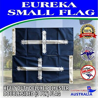 Eureka Flag Heavy Duty Deluxe Double Sided Flag AUSPOST REGISTERED TRACKING