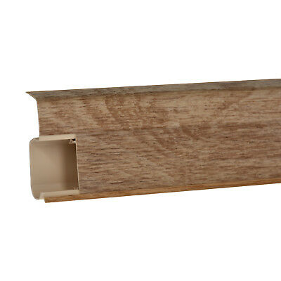BELFAST OAK SKIRTING BOARD & ACCESSORIES (w. FREE screws) 55mm x 21mm PVC strip