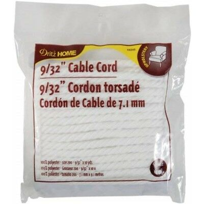 """Dritz Home Cable Cord 9/32""""x10yd-white"""