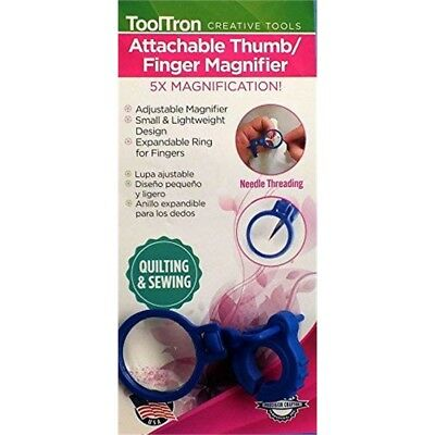 Tool Tron Attachable Thumb/finger Magnifier-5x Magnification