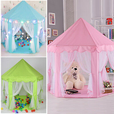 Kids Playhouse Girls Princess Castle Large Indoor/Outdoor Play Tent Fairy House