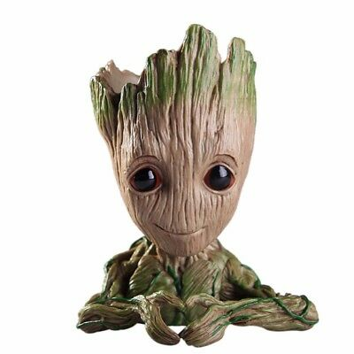 Baby Groot Figure Flower Pot Guardians of The Galaxy Vol 2 Pen Planter Toy Gift