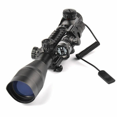 4-12X50EG Telescopic Green/Red Riflescope w/ Green Dot Laser Holographic Sight