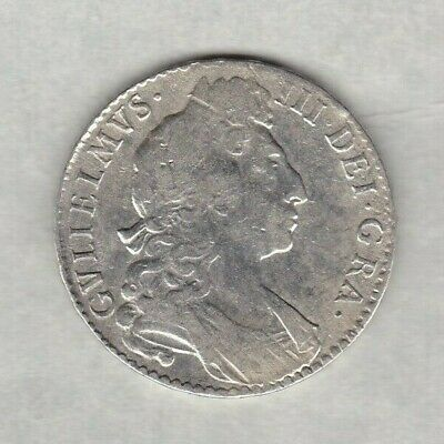 1697 William Iii Silver Halfcrown In Fine Condition.