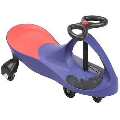Blue Swing Car Ride On Swivel Scooter Childrens Toy Wiggle Gyro Twist & Go Gift