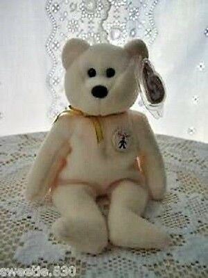 3d754ac333f TY BEANIE BABY - IVORY the Bear (UK Hamleys Store Exclusive) (8.5 ...
