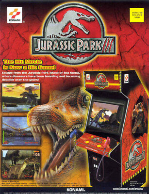 JURASSIC PARK III Arcade FLYER Original 2001 Video Game Promo Art JP 3 Konami