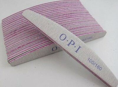 5x Professional Quality OPI Nail File (100/180 Grit) Manicure Repair Acrylic
