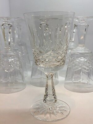 Waterford Crystal - Kenmare (Cut Pattern) - Set of Eight Claret Wine Glasses 6""