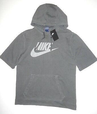 debda62dd NEW MENS NIKE Wash Short Sleeve Fleece Hoodie - $42.39 | PicClick