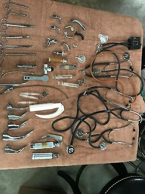Vintage~ Lot of various antique medical tools and instruments