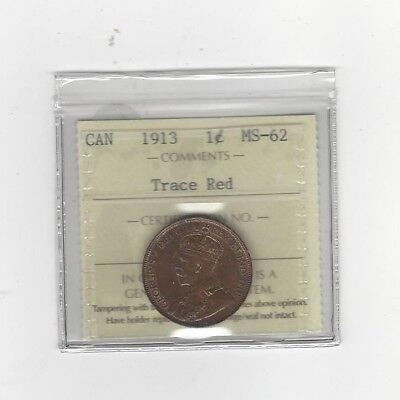 **1918**, ICCS Graded Canadian, Large One Cent, **MS-63**