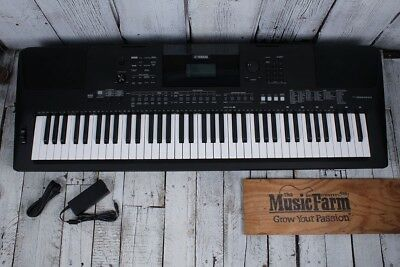 Yamaha PSR-EW410 76 Key Touch Response Portable Keyboard with Power Supply Black