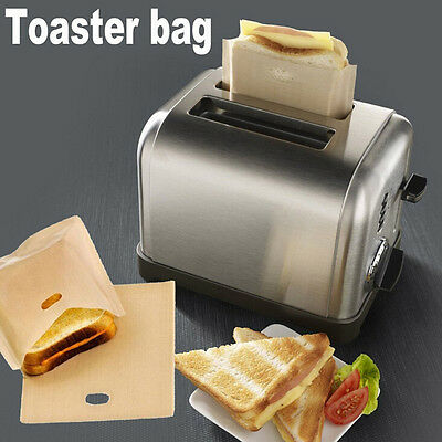 Sandwich Toaster Toast Bags Non-Stick Reusable Safety Heat-Resistant 2X HHàà