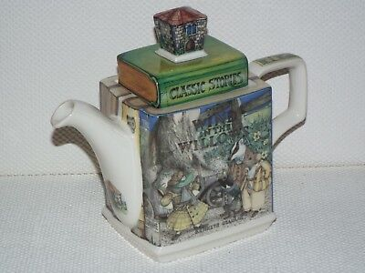 Sadler Classic Stories Teapot WIND IN THE WILLOWS England RARE 1st Edition